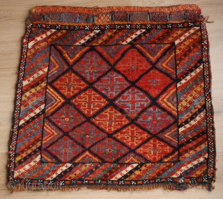 Luri bagface with the most sparkling intense natural colours you can imagine.  1900 or earlier, good condition, 66 x 60 cm.
