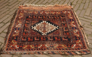 Baluch bag with lots of goats, clean and pliable bag.  66 x 68 cm.