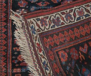 Small Kurdish rug with human figure (and one half figure)and flower motifs, maybe Bidjar. phantastic natural colours, good pile, no restaurations, no moths, wonderful soft wool, a unique piece of folk art,  ...