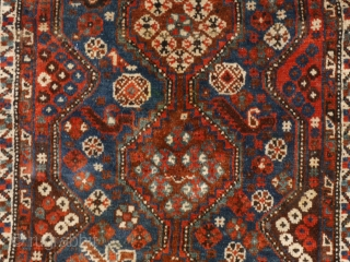 Luri small tribal rug with deep natural colours. A jewel. Mint condition, full pile, clean, no problems, only some minor loss on one side.  85 x 125 cm.
