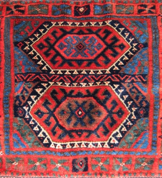 Very nice Kurd bag. Complete front and back and absolutely full pile with saturated colors and great wool. Just back from Mr. Mann's so spanking clean.