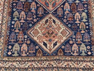"Super soft Qashqai or Khamseh rug, 4'1""x5'0"""