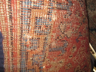 """Large 18th century Ushak Prayer Rug, conserved and partially mounted, 4'7""""x5'6"""" /140x168cm"""