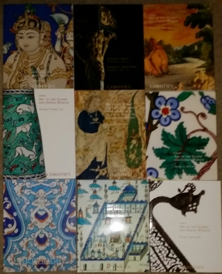 Various Islamic Art sale auction catalogs, Christie's and Sotheby's. From the 90s to 2015, mainly London sales. 