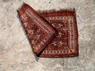 A Yomud Turkmen Chuval bagface. Excellent condition.