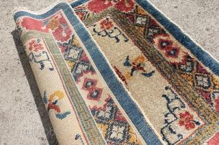Antique Silk on Cotton Chinese or Tibetan, 79cm x 81cm, $ 500