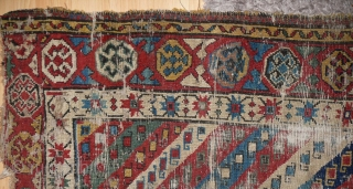 This Shahsavan long rug from the first half of the 19thc is not for the floor but for the wall of a collector, who doesn't see holes anymore, who just sees the  ...