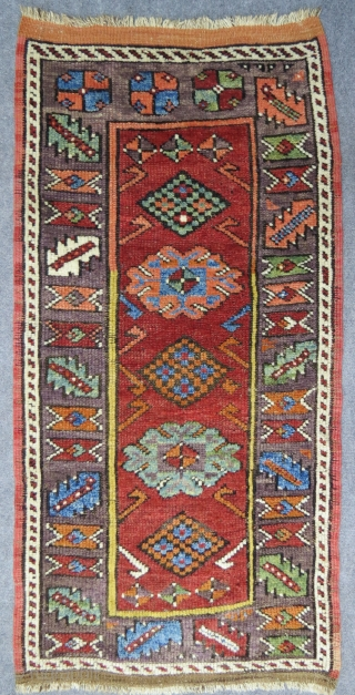 Large Centranatolian yastik in very good condition, with excellent colors, mid 19th