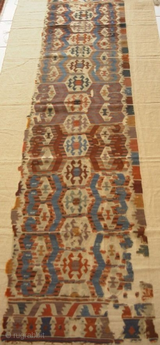 Manissa kilim, Westanatolia, mid to early 19th c, mounted
