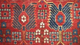 Beshir, striking, rare main carpet frag