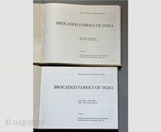 Brocaded Fabrics of India, 2 Volumes. 