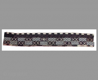 """Mapel (Dress for Men)  79x465 cm  Early 20th century Rafia Kuba Kingdom, Kongo, Africa This textile was worn by the men of the """"Ngongo"""", a tribe in the eastern part of the kingdom of Kuba Feel free  ..."""