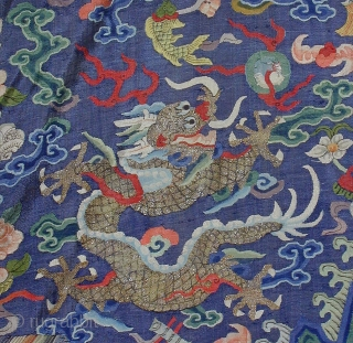 Chinese Ke-Si Coat Silk, 19th century Length about 110cm