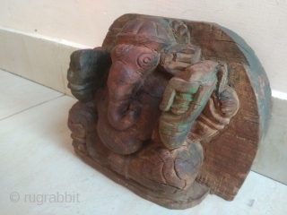 Old Vintage God Ganesha Statue, Ethnic Statue, Handicraft Statue, Art Deco.