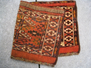 Full pile Yomut torba, mafrash, from around 1880. All natural dyes,  NO damages.