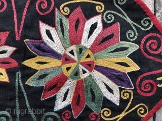 Antique 19th century Uzbek Lakai tribe ut kap ilgich embroidery. Excellent stitches and natural colours. The size is 32 by 55cm. Good condition.
