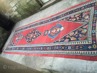 Stunning 19thc Bijar Kelim wonderful colours and condition
