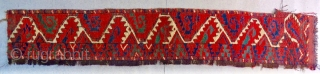 """Ersari with Salor flavor. One more fantastic color """"Salorish"""" Ersari main rug fragment. Size is cm 35x180. Do we see dragons here? Dyes are incredibly powerful. Early 19th c."""