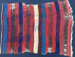 Tulu rug fragment. Cm 130x160. Central Anatolia, most probably Karapinar. Early 20th century. It has got a great front and a great back side. Imo natural colors. It looks like a modern  ...
