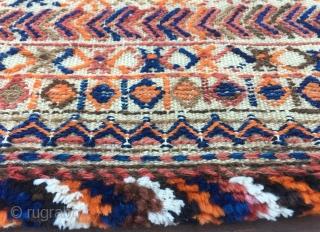 Namakdan or salt bag. Bakhtiari? Kordi? Cm 50x68 ca. Early 20th c. Interesting chaos pattern.