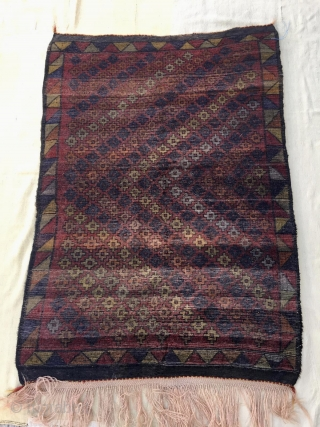 This second Yatak or sleeping rug is also from Konya area. Size is cm 132x186. Great size, great, unusual pattern. High pile, lovely color combination, very good condition. A few words about  ...