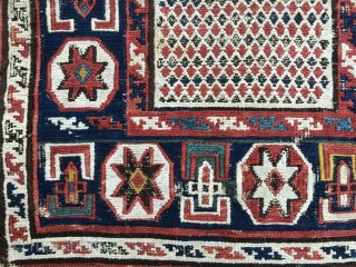 Azerbaijan. Baku sumack khorjin bag face. Cm 34x42. 4th quarter 19th century. Lovely pattern, great natural saturated colors. A little tribal textile jewel.