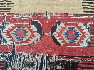 Beautiful & rare Balikesir kilim fragment. Professionally mounted. See my previous ad for infos & pics: http://rugrabbit.com/node/181737
