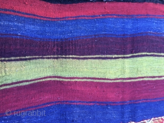 Super Anatolian cuval. Cm 125x158. 4th q 19th c or before. Great graphics, great workmanship, see the sumack part, fantastic natural saturated colors, great condition with a sweet home repaired hole. See  ...
