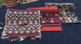 3 great saddle bags/heybe/khorjin of great beauty and condition. See each one here: Bergama area: http://rugrabbit.com/node/198981, Karakecili: http://rugrabbit.com/node/198996 Zakatala: http://rugrabbit.com/node/199508