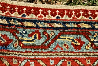 Ushak saf. Mid 19th century. Cm 140x420 - ft 4.6x13.8. In super condition. As beautiful as you can see. Some old restorations. Complete. Great pattern. Great globetrotter: from Turkey to USA, from  ...