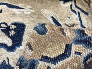 NingHsia China Dragon rug 68x68cm.