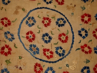 early 18th.Ottoman embroidery silk on linen.size 98 x 102 cm