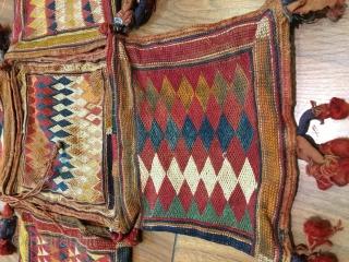 Early 20 th. Century Banjara embroidery cargo bag