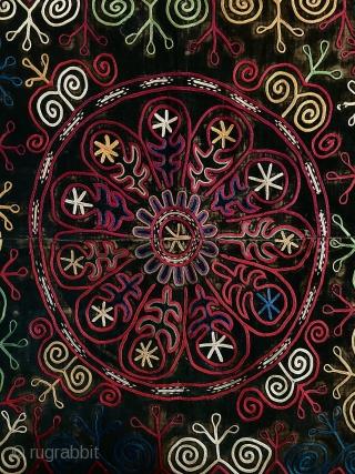 Kirghiz embroidery silk on velvet late 19. C.