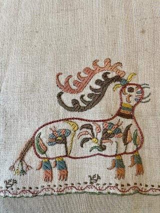Skyros Island Greek embroidery early 18.C.skirt edge