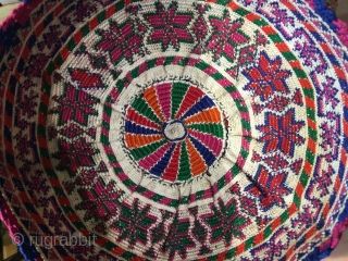 Syrian,silk embroidery hat.
