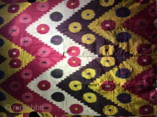 Big Uzbek shahi  Chapan silk and silk,late 19 th.