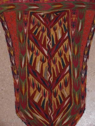 Turkmen embroidery, Camel head dress,superb quality,size 38,5 x28,5 cm