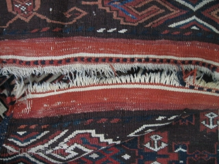 Antique jomud main carpet 1890-1910? Older? 190 x 290 cm  Allmost full pile and original sidecords(small wear only shown in one photo)  One corner has small damage.  Nice colors. the blue is extra  ...