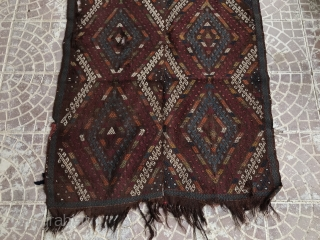 19 th Konya karapınar cicim rug size=250x103 cm