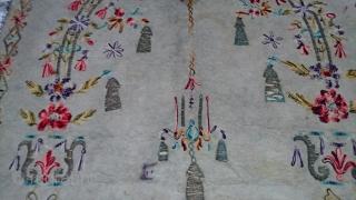 circa 1860--70 ottoman felt prayer rugs. woven metal size 160x95