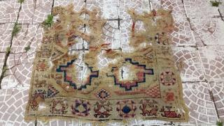 18 thc Cappadocia rug fragment size=100x100cm