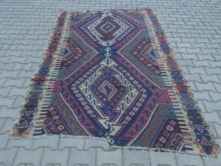 GREAT color Anatolian kilim