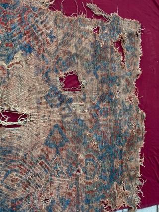 18th century West Anatolian Uşak rug Fragment Size=175x110 cm