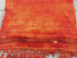 Anatolian turkish karapınar mohair wool tulü Size:146x104