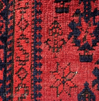 Persian Baluch, 178x92cm, 19th century, gently washed, glorious red, waiting to glow in your home.