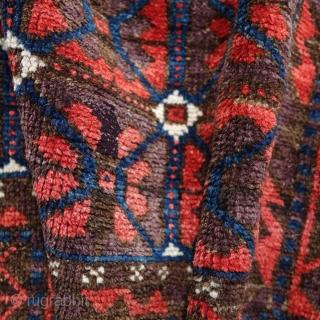 Antique Baluch, Mina Kani, 185x98cm, symmetrical knot.