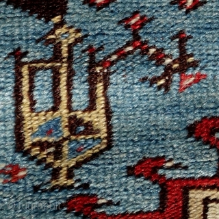 Tulip Ladik Prayer Rug, 3. quarter of 19th century, 192x120cm. Condition as to be seen on the pictures.