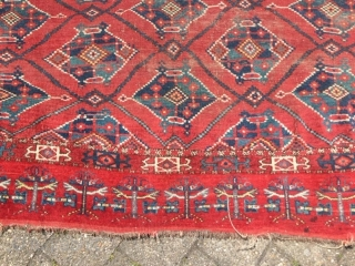 Collectible Antique Ersari Tschowal  1.H. 19. jh. Centralasia Nice Colors  Size 137 x 91 cm