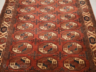 Yomut main carpet, early 19th century or possibly earlier. 288 x 160cm. www.knightsantiques.co.uk